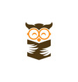 owl education logo image vector image