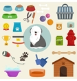 Pet shop dog goods and supplies store products vector image vector image
