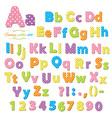 Polka dot font vector image vector image