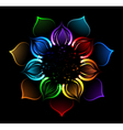 rainbow lotus vector image vector image