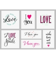 Romantic love inspiration lettering set vector image vector image