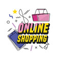 shopping basket buy online icon vector image vector image