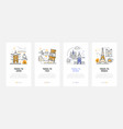 sightseeing tours - set line design style vector image