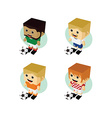 soccer player isometric cartoon set vector image vector image