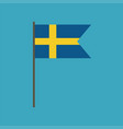 sweden flag icon in flat design vector image vector image