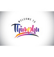 thimphu welcome to message in purple vibrant vector image vector image