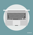Top view of modern laptop vector image vector image