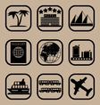 Tourism icons set vector image