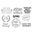 variety mother day emblems vector image vector image