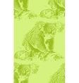 vintage of a koala bear seamless animal pattern vector image vector image