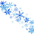 watercolor snowflakes winter background vector image