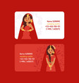 wedding outfits set business cards vector image