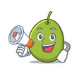 with megaphone olive character cartoon style vector image vector image