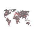 world map coronavirus covid-19 coronavirus vector image vector image