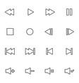 set of audio video control line icon vector image