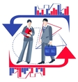Business people isolated infographics arrows vector image