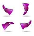 Set of arrow stickers vector image