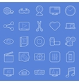 Video thin lines icons set vector image