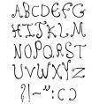decorative letters vector image