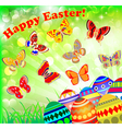 greeting card with eggs vector image