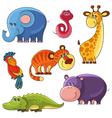 African wild animals set vector image