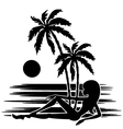 tropics a palm trees vector image