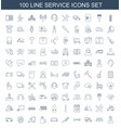 100 service icons vector image vector image