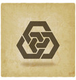 abstract interlocking hexagons vintage background vector image vector image