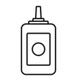 beauty salon bottle icon outline style vector image vector image