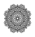 black and white decorative ornament vector image vector image