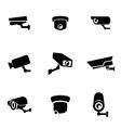 Black security camera icon set