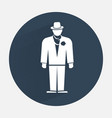Businessman icon Mafia gangster silhouette symbol vector image