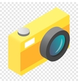 Camera isometric 3d icon vector image