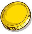 cartoon gold empty coin icon vector image vector image