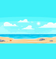 cartoon summer beach paradise nature vacation vector image