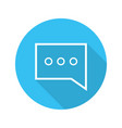 chat box flat linear long shadow icon vector image