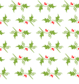 Christmas decorative pattern with holly branches vector image vector image