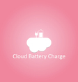 Cloud battery charge logo vector image vector image