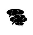 collection of questions black icon sign on vector image