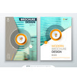 cover set teal template for brochure banner vector image vector image