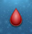 Drop of blood vector image vector image