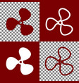 fan sign bordo and white icons and line vector image vector image