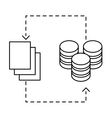 figure distributed database icon image design vector image vector image
