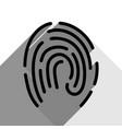 fingerprint sign black icon vector image vector image