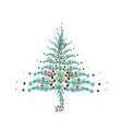Five Christmas Balls Decoration on Christmas Tree vector image vector image