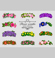 flower wreaths set vector image