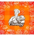 food and chef hand-drawn vector image vector image