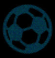 football ball collage icon of halftone spheres vector image