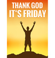 Friday poster vector image vector image
