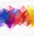full spectrum rainbow abstract polygon triangular vector image vector image